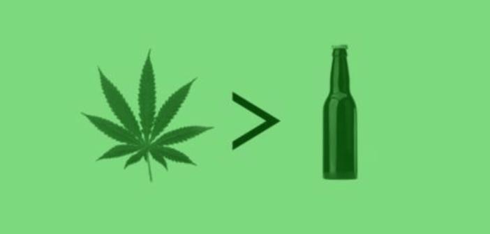 Marihuana jest 114 razy bezpieczniejsza niż alkohol, GrowEnter