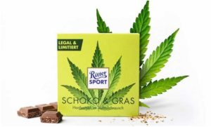 """Ritter Sport sprzedaje limitowany rodzaj czekolady """"Schoko & Gras"""" z nasionami konopi, GrowEnter"""